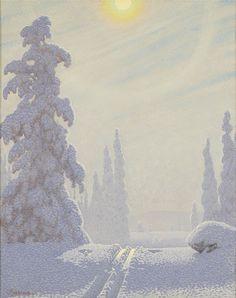 Gustaf Fjaestad, Gnistrande vinterlandskap