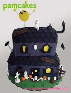 Pastel de Haunted House Halloween