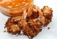 Coconut Shrimp With Mango~Chili Sauce~Coconut Shrimp are my very fave! Especially when either served with a sweet yet spicy mango chili sauce or a raspberry sauce! Seafood Dishes, Fish And Seafood, Shrimp Recipes, Appetizer Recipes, My Favorite Food, Favorite Recipes, New Years Appetizers, Allergy Free Recipes, Fun Recipes