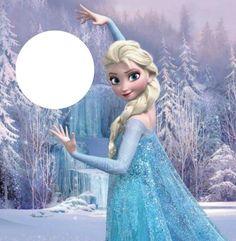 Montage photo la reine des neiges - Pixiz