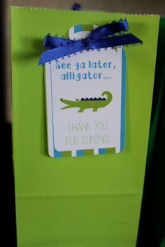 Alligator Birthday Party Thank You Favor Tags DIY ...