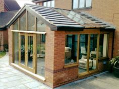 Sunroom/ house extentions Conservatory Ideas Sunroom, Conservatory Extension, Sunroom Windows, Bungalow Extensions, Garden Room Extensions, House Extensions, Tiny House Loft, Modern Bungalow House, House Extension Design