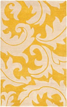 RugStudio presents Rugstudio Sample Sale 75556 Gold / Ivory Hand-Tufted, Better Quality Area Rug