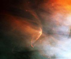 È questo l'effetto dello scontro tra una nuova stella e la nebulosa Orione,. - This is the effect of the clash between a new star and the Orion nebula,