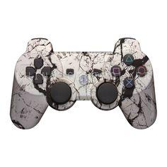 Custom PS3 controller Wireless Glossy WTP-201-Black-Vein Custom Painted