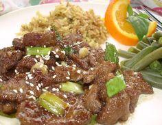 Easy Mongolian beef recipe with a twist. Orange Juice!