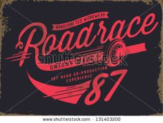 vintage illustration retro race car for apparel - stock vector Car Lettering, Lettering Design, Typo Logo, Typography, Newspaper Letters, Automotive Logo, Vintage Logo Design, Vintage Logos, Retro Logos