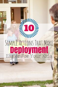Finally a article with helpful and actionable things you can do to make the transition and pain of deployment a little bit easier for your kids. Military Marriage, Military Deployment, Military Wife, Army Girlfriend, Military Families, Countdown For Kids, Deployment Countdown, Military Holidays, Deployment Care Packages
