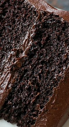 A moist, rich, triple layer chocolate blackout cake with a chocolate cream cheese frosting. Warning: for extreme chocolate lovers only! Dark Chocolate Cakes, Chocolate Lovers, Chocolate Desserts, Extreme Chocolate Cake, Food Cakes, Cupcake Cakes, Cupcakes, Cake Recipes, Dessert Recipes