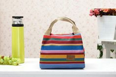 Insulated Canvas Lunch Bag for AED 39.