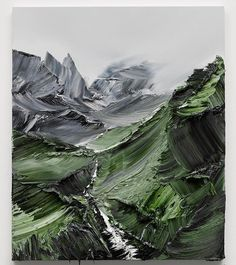 Mountains by Conrad Jon Godly. Godly is a Swiss painter based in Graubuenden…
