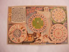 Vintage Cutout Fortune Telling Postcard Gypsy by NeatstuffAntiques, $65.00