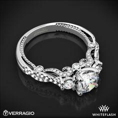 Verragio INS Beaded Braid Princess 3 Stone Engagement Ring Verragio Engagement Rings, Engagement Ring Buying Guide, Three Stone Engagement Rings, Wedding Jewelry, Wedding Rings, Princess Cut Diamonds, Fine Jewelry, White Gold, Braid