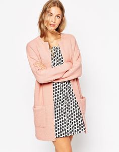 Coatigan by ASOS Collection Ribbed knit fabric Open front Dropped shoulder seams Hip pockets Contrast yarn to hem Relaxed fit Machine wash Acrylic, Nylon, Elastane Our model wears a UK 4 Cute Cardigans, Cardigans For Women, Sweaters, Asos, Nylons, Cold Wear, Blazers, Coatigan, Models