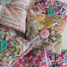 Treehouse Textiles, Liberty and linen sachets.