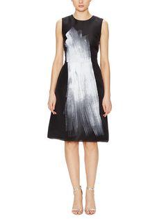 Silk Paint Brush A-Line Dress by Vera Wang at Gilt
