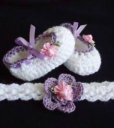 Crochet Headband and booties