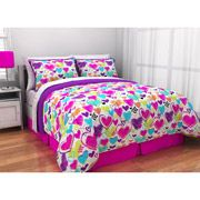 Walmart: Latitude Sketchy Owl Reversible Bed in a Bag Bedding Set