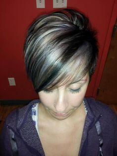 Grey hair and highlights/lowlights
