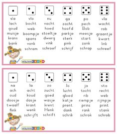 Dobbelsteenlezen - In de klas bij Krista Games For Kids, Spelling, Circuit, Homeschool, Classroom, Teacher, The Unit, Letters, Activities