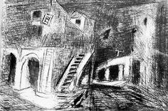 Oswaldo Goeldi - Nanquim - 1935 obra com dedicatória e catalogada na Fundação Goeldi
