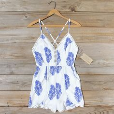 Mykonos Romper, Sweet Summer Rompers from Spool 72. | Spool No.72
