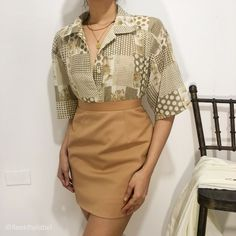 Floral Chiffon, Vintage Tops, Diy Fashion, Floral Tops, February, Short Dresses, Beige, Skirts, Short Gowns