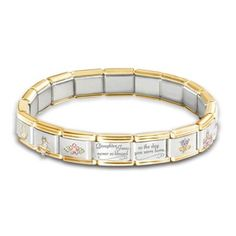 Precious Daughter Italian Charm Bracelet With Swarovski Crystals