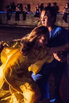 CORE Performance Company-- at FLUX Night 2013 Anna Bracewell and Rose Shields-- photo by John Ramspott