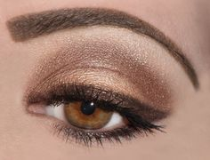 I love the brown eyeliner. I'm so pale; I really need to stop using black liner