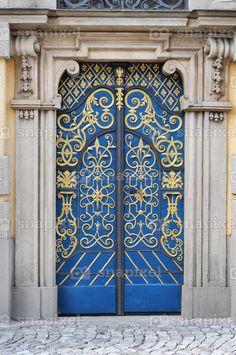 Wonderful blue door