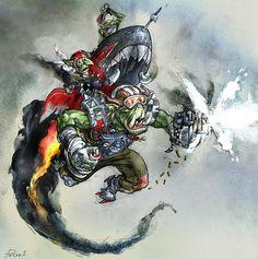 Warhammer 40k: Ork Stormboyz by Peter1punk.deviantart.com on @deviantART