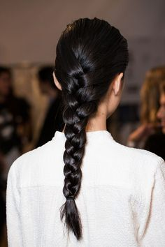 braids at Peter Som Spring 2015 Good Hair Day, Great Hair, Messy Hairstyles, Pretty Hairstyles, Hairstyle Braid, Braid Hair, Medium Hairstyles, Men's Hair, Wedding Hairstyles