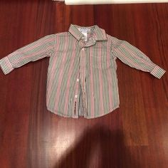 Janie and Jack long sleeve shirt Size 6-12 months, in excellent condition Shirts & Tops Button Down Shirts