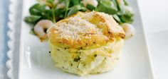 Cheese soufflés with prawn saladRecipe Idea - Sainsbury's