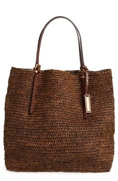 Michael Kors Santorini Raffia Tote, Extra Large | How appropriate for my Greece trip!