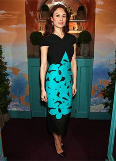 Olga Kurylenko in Roland Mouret attends the Charles Finch and Chanel Pre- BAFTA Cocktail Party and Dinner. #bestdressed