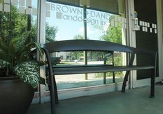 Maglin's bench looks gorgeous in front of Brown Danos Landdesign, in Los Angeles California. Come take a seat! Los Angeles California, Take A Seat, Looking Gorgeous, Bench, Brown, Furniture, Benches, Home Furnishings, Desk