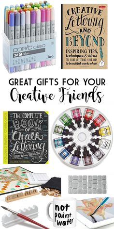 Need creative gift ideas for that artist in your life? Gifts for someone who loves to paint, draw or sketch? These are some great ideas!