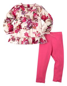 Baby Roseberry Bloom Woven Set   Pink   Monsoon