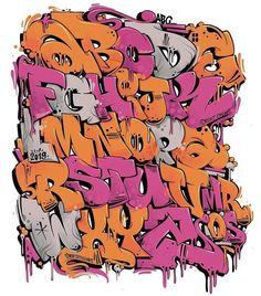 Graffiti Font Style, Graffiti Lettering Alphabet, Hand Lettering Art, Tattoo Lettering Fonts, Graffiti Styles, Graffiti Art, Graffiti Wildstyle, Name Drawings, Tag Alphabet