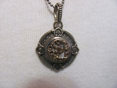 Antique Victorian Button Pendant Gold and by marionstreasure