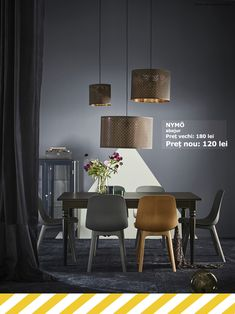Dark home decor tips for lightness, too - IKEA Blue Dining Room Furniture, Dining Room Blue, Home Furniture, Dining Chairs, Dining Table, Room Chairs, Chaise Ikea, Ikea Chair, Chairs