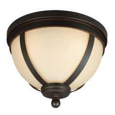 Sea Gull 7590403-715 - Sfera Three Light Ceiling Flush Mount in Autumn Bronze