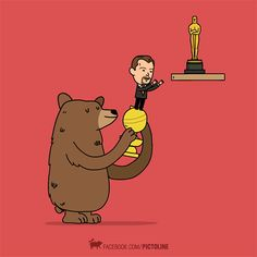 #TheRevenant #Bear #LeonardoDiCaprio #AcademyAwards #GoldenGlobes
