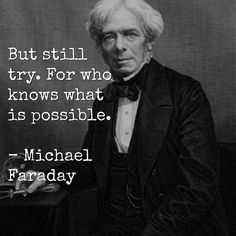 """One of the most underrated rags to riches stories of all time. The world would be a different place if Michael Faraday didn't """"try"""". #wednesdaywisdom"""