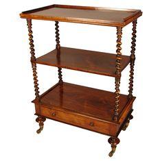19th Century English Rosewood Tea Cart
