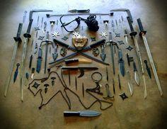 Unas de las colecciones de armas, de la gran variedad de estas, usadas en el combate cuerpo a cuerpo.