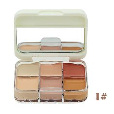 Professional cosmetics 6 colors fitting skin concealer corretivo correct foundation base camouflage concealer contour palette