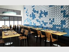 Not relevant - but super cool feature wall Hunter Douglas, Interior Inspiration, Design Inspiration, Design Competitions, Commercial Design, Textured Walls, Wall Tiles, Surface Design, Wall Design
